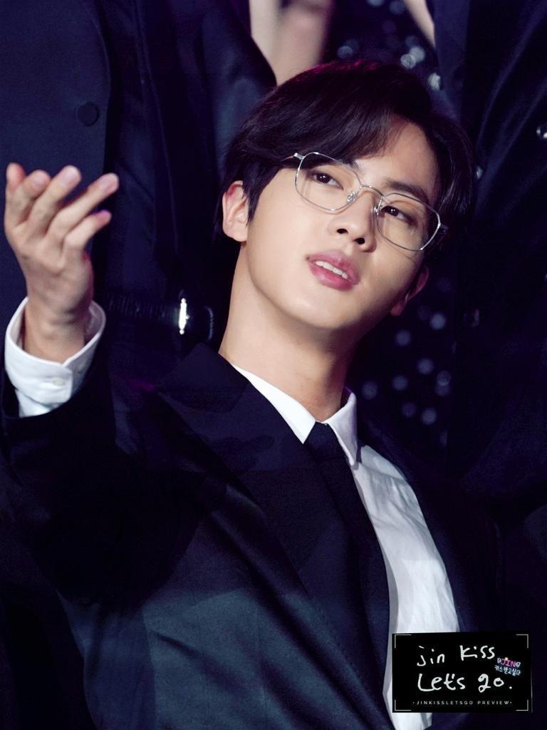 BTS Jin's Visuals In Glasses Was So Powerful It Trended At #1 On Twitter