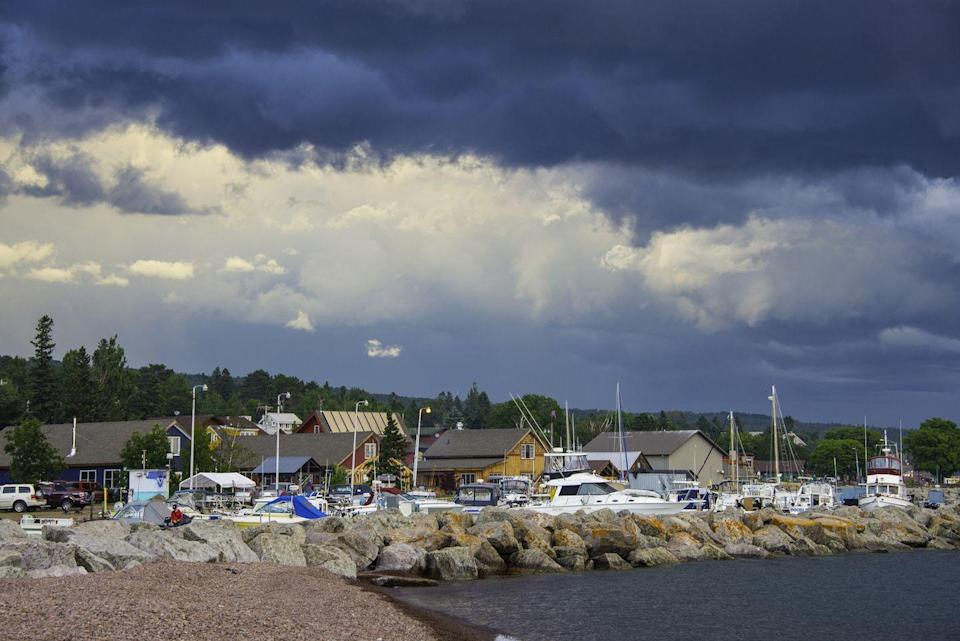 """<p>Another classic summer destination, Grand Marais is nestled close to the Sawtooth Mountains and Lake Superior. However, plenty call this lovely town """"home"""" year-round, from <a href=""""http://www.visitcookcounty.com/communities/grand-marais/"""" rel=""""nofollow noopener"""" target=""""_blank"""" data-ylk=""""slk:artists to otters"""" class=""""link rapid-noclick-resp"""">artists to otters</a>. Grand Marais has also been inspiring <a href=""""http://www.cbc.ca/superiormorning/episodes/2013/07/23/a-cultural-evolution-in-grand-marais/"""" rel=""""nofollow noopener"""" target=""""_blank"""" data-ylk=""""slk:young creatives"""" class=""""link rapid-noclick-resp"""">young creatives</a> to settle down, resulting in a boom of interesting shops, restaurants and businesses.</p>"""