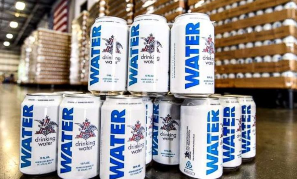 Anheuser-Busch and other beverage makers donated cans of drinking water to victims of Hurricane Florence.