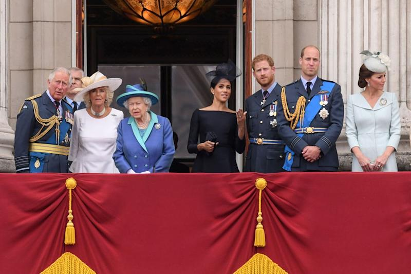 Prince Charles, Camilla, Queen Elizabeth, Meghan Markle, Prince Harry, Prince William and Kate Middleton | David Fisher/REX/Shutterstock