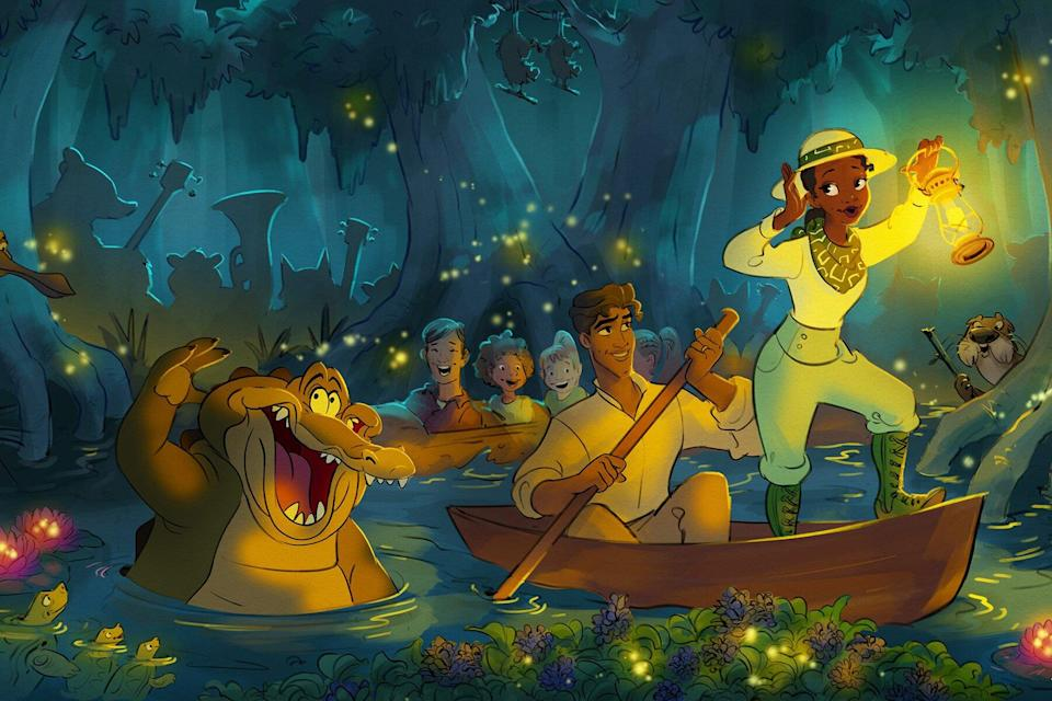 Princess and the Frog Attraction Rendering
