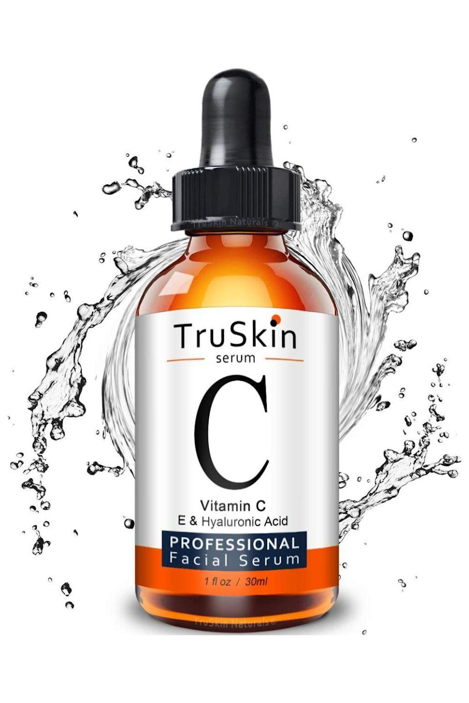 """<p><strong>TruSkin Naturals</strong></p><p>amazon.com</p><p><strong>$19.99</strong></p><p><a href=""""https://www.amazon.com/dp/B01M4MCUAF?tag=syn-yahoo-20&ascsubtag=%5Bartid%7C2140.g.35717314%5Bsrc%7Cyahoo-us"""" rel=""""nofollow noopener"""" target=""""_blank"""" data-ylk=""""slk:shop"""" class=""""link rapid-noclick-resp"""">shop</a></p><p>With all the antioxidant and skin-brightening benefits of a <a href=""""https://www.cosmopolitan.com/style-beauty/beauty/g12091058/best-vitamin-c-serum-face-skin/"""" rel=""""nofollow noopener"""" target=""""_blank"""" data-ylk=""""slk:vitamin C serum"""" class=""""link rapid-noclick-resp"""">vitamin C serum</a>, pretty much everyone could use one in their skincare routine. This inexpensive option, which uses the vitamin C derivative sodium ascorbyl phosphate, comes highly recommended by more than 28,000 Amazon reviewers.</p>"""