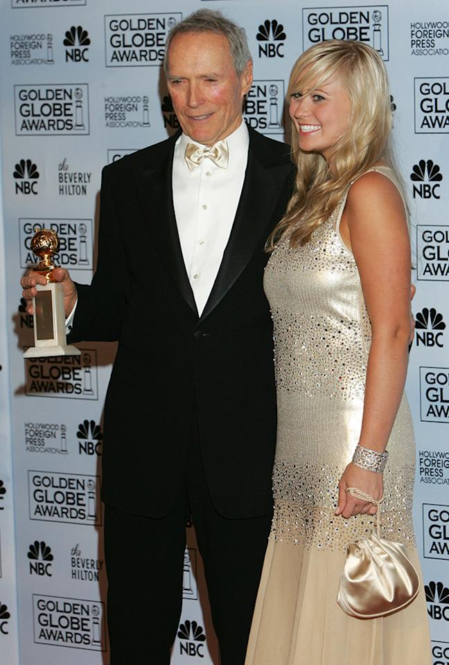 <p>Clint won for Best Director for 'Million Dollar Baby' the same year daughter Kathryn was Miss Golden Globe. Another of the star's daughters, Francesca, would be named Miss Golden Globe in 2013. (Photo: Chris Haston/NBC/Getty Images) </p>