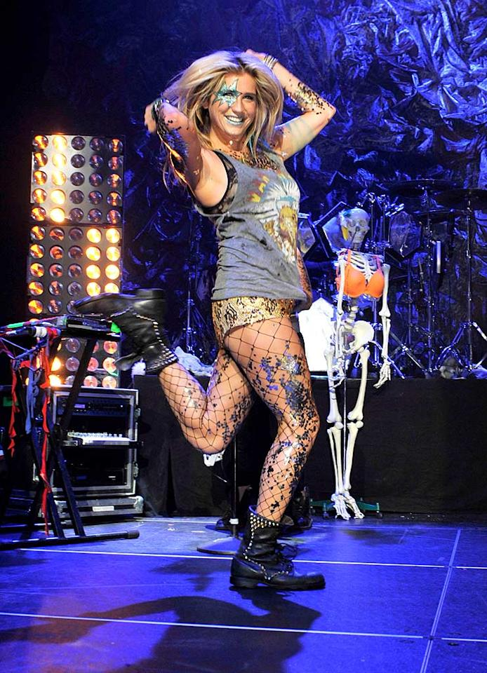 """Along with her waning 15 minutes of fame, Ke$ha's outrageous ensembles are also quickly becoming tiresome. Tik Tok. Kevin Mazur/<a href=""""http://www.wireimage.com"""" target=""""new"""">WireImage.com</a> - August 2, 2010"""