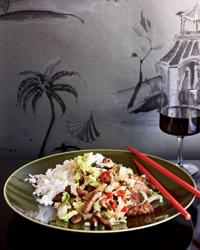 Chiang's recipe for Shanghai Stir-Fried Pork with Cabbage, published in Food & Wine in January 2012.