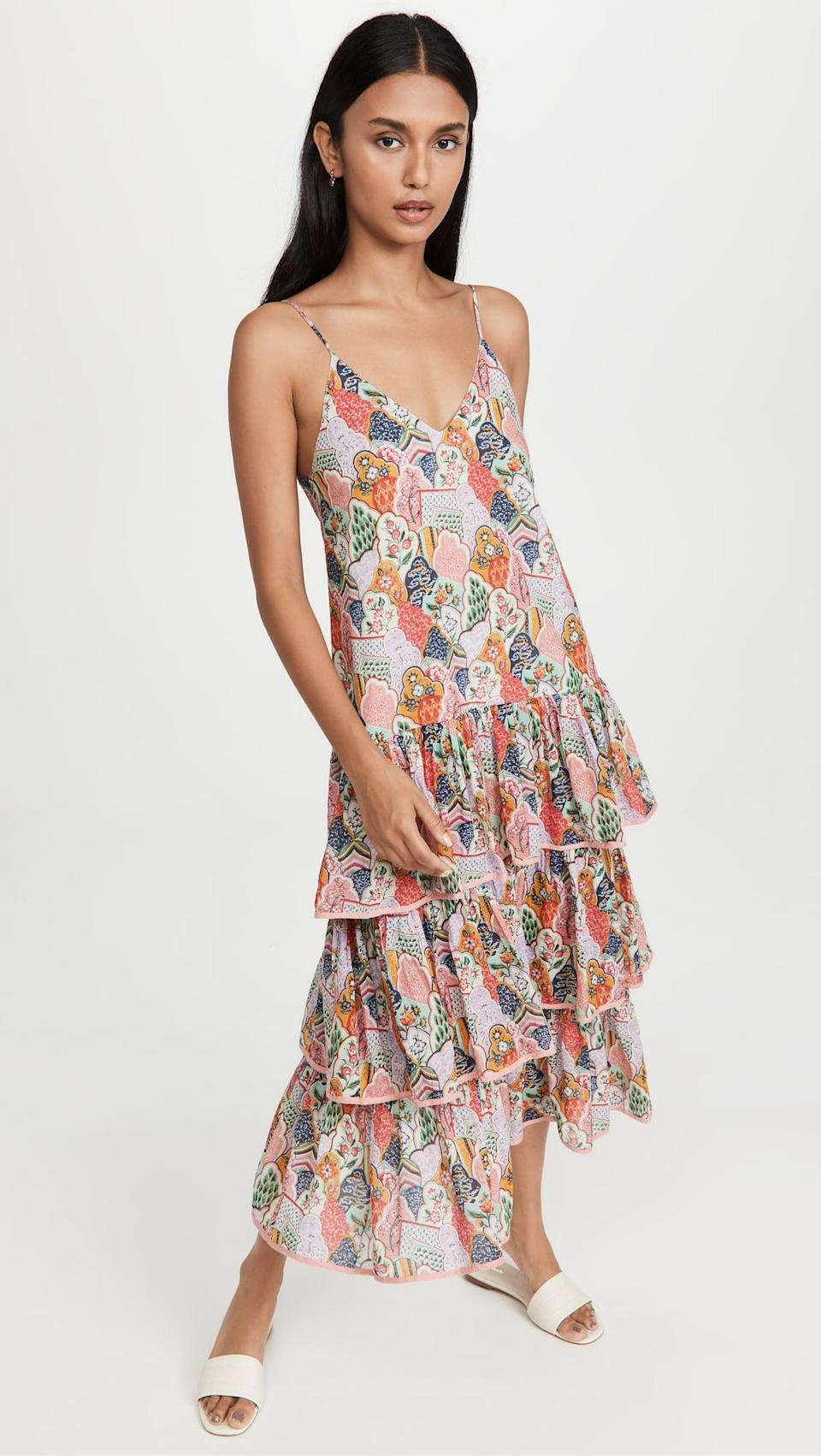 <p>Famously known for having two sides, a Gemini craves contrast, so what better fit than a tiered dress? The floral print is perfect to coax a Gemini out of any rut, and the social-butterfly sign will be thankful for a dress that turns head. Look no further than the <span>Rhode Vena Dress</span> ($445) to please a gem of a sign!</p>