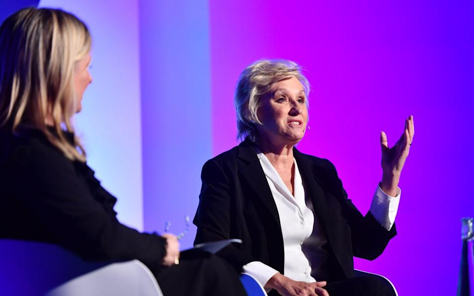 Tina Brown speaking to the Telegraph's Allison Pearson at Women Mean Business Live 2019 - PAUL GROVER FOR THO TELEGRAPH