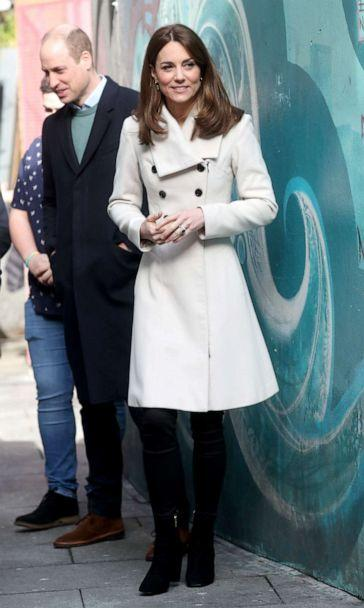 PHOTO: Catherine, Duchess of Cambridge and Prince William, Duke of Cambridge view artwork as they visit Jigsaw, the National Centre for Youth Mental Health on March 4, 2020 in Dublin, Ireland. (Chris Jackson/Getty Images)