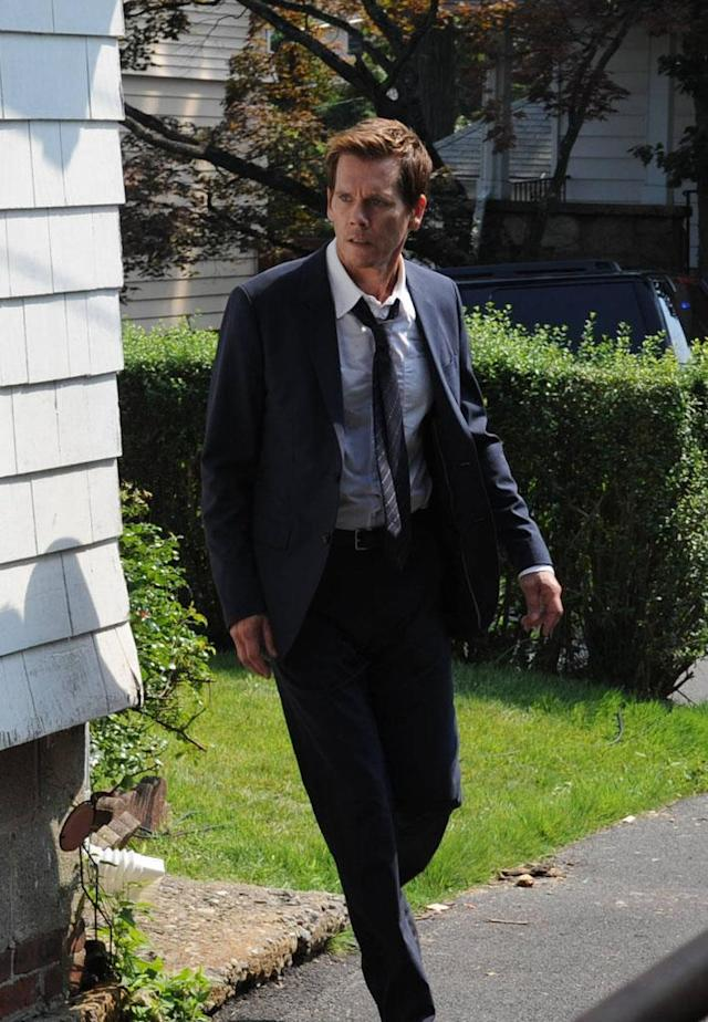 "Ryan Hardy (Kevin Bacon) follows a lead in the ""Chapter Two"" episode of ""The Following."""