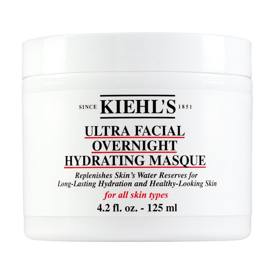 """<p>Many overnight masks serve as amplified night creams. Kiehl's Ultra Facial Overnight Hydrating Masque does that and more. Formulated with extracts you don't hear about every day — barrier-boosting fountain plant, instantly hydrating desert plant, and a moisturizing protein known as antarcticine — this replenishing blend addresses dryness as if you were in the harshest of climates, leaving your skin incredibly soft come morning.</p> <p><strong>$36</strong> (<a href=""""https://shop-links.co/1707258617185758699"""" rel=""""nofollow noopener"""" target=""""_blank"""" data-ylk=""""slk:Shop Now"""" class=""""link rapid-noclick-resp"""">Shop Now</a>)</p>"""