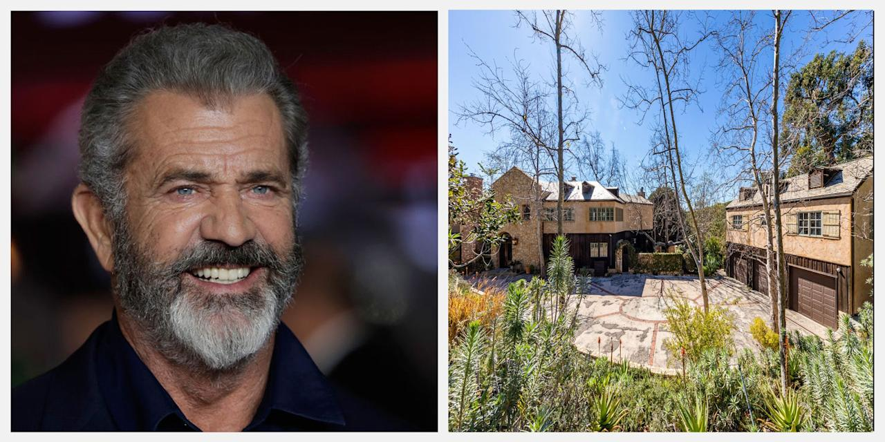 "<p>Academy Award winner Mel Gibson just listed his Malibu, California estate for $14.5 million. The impressive estate features five bedrooms, five bathrooms, a French country kitchen, a pool house, and more. Here's a look inside the 6,500-square-foot property, which is <a rel=""nofollow"" href=""https://www.theagencyre.com/listing/sl1909403-22313-carbon-mesa-road-malibu/"">listed with</a> Sandro Dazzan of The Agency and Hilton & Hyland's Branden Williams.</p>"