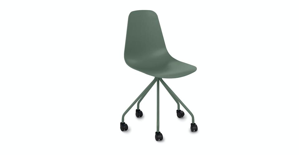 <p>At such an affordable price point, I was surprised to find the <span>Svelti Aloe Green Office Chair</span> ($69) is actually comfortable and sturdy. This was one of the best-value purchases we made for the whole apartment. </p>