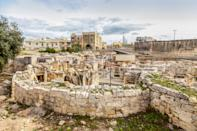 Hagar Qim, ancient Megalithic Temple of Malta, is a UNESCO world heritage site on the island nation of Malta. Heritage sites around the world are under threat due to conditions created by climate change. Increased risk for floods or fire put some of the world's most famous monuments and locations in jeopardy. (Getty)