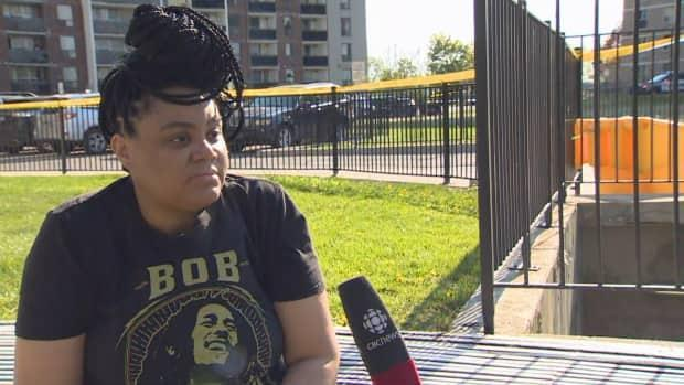 Renee Blair, a nearby resident and mother of a young son, was disheartened by the violence in her neighbourhood. She said it's normally quite peaceful.