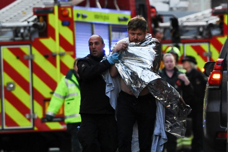Two people were stabbed to death and three injured in the attack (AFP Photo/DANIEL SORABJI                      )
