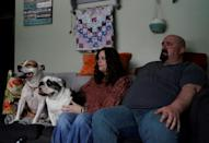 Steve and Beverly Veres, whose two sons in their 20s are addicted to heroin, at their home in Houtzdale, Pennsylvania