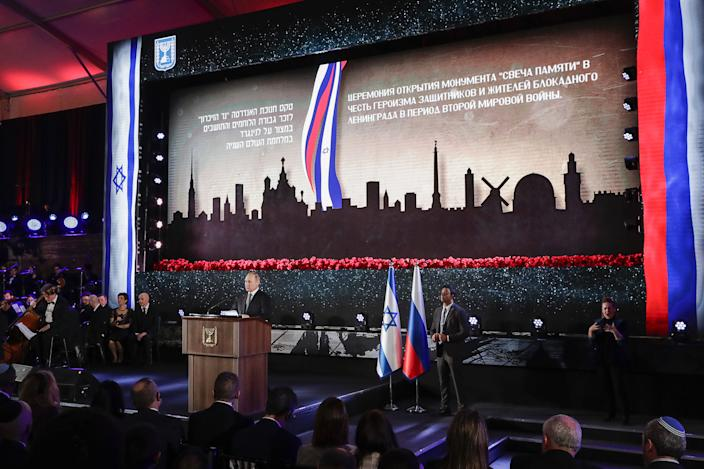 Putin attends 75th anniversary ceremony in Israel (Mikhail Metzel\TASS via Getty Images)