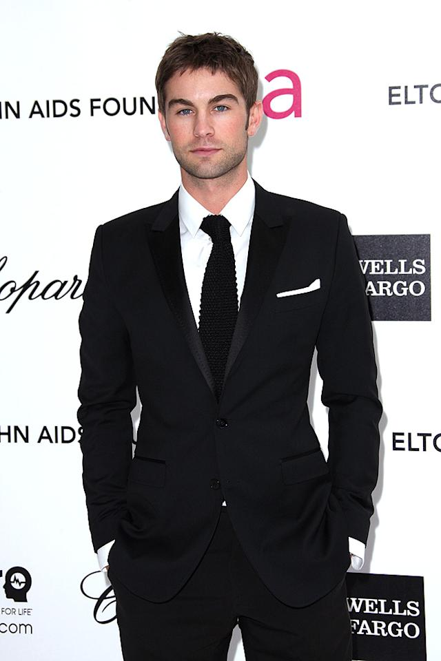 Chace Crawford could really use a new haircut. His suit, however, looked mighty fine.