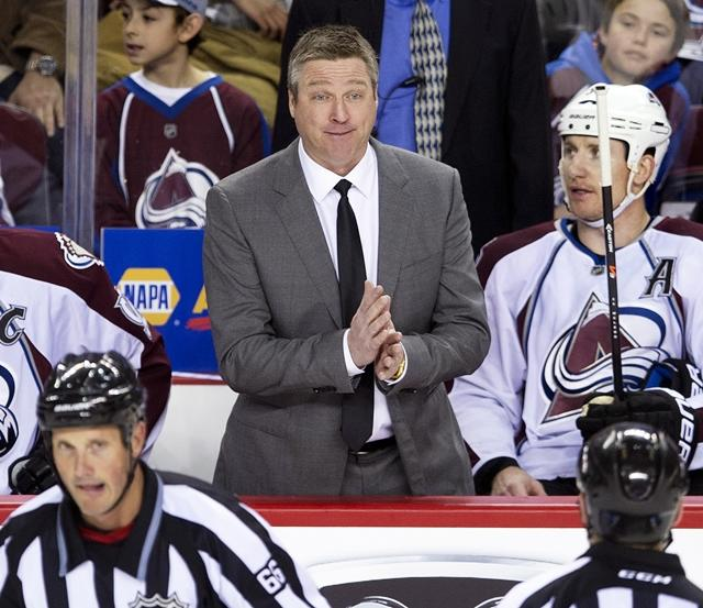 Colorado Avalanche bench boss Patrick Roy blasted his former Remparts goaltender Louis Domingue in comments in a scrum this week. (Larry MacDougal / CP)