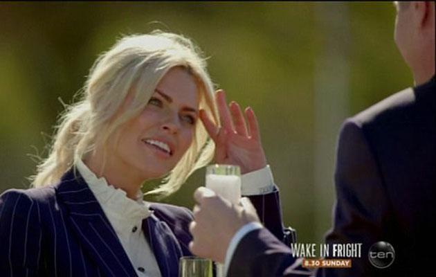 Sophie was clearly smitten with the publican intruder. Source: Channel 10