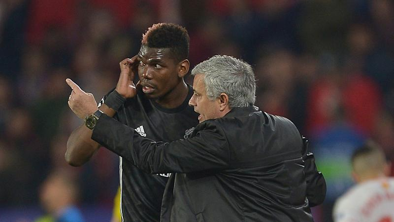 Pogba and Mourinho haven't always seen eye to eye at United. Pic GettyMore