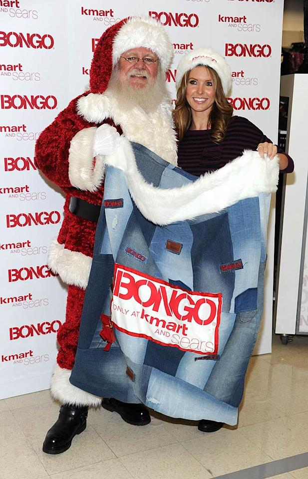 """Also getting into the holiday spirit was reality starlet Audrina Patridge, who had a date with Santa at Kmart in Burbank, California, on Wednesday to host a private shopping spree to benefit St. Jude Children's Research Hospital. Frazer Harrison/<a href=""""http://www.gettyimages.com/"""" target=""""new"""">GettyImages.com</a> - December 1, 2010"""