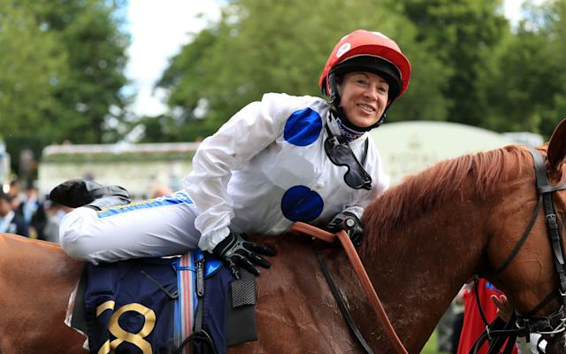 Hayley Turner rode 33-1 shot Thanks Be to victory in the Sandringham Stakes - PA