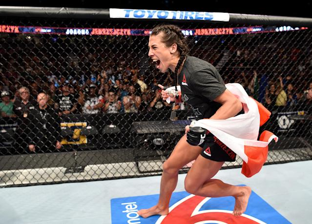 If Joanna Jedrzejczyk beats Valentina Shevchenko on Saturday at UFC 231, she's said she'll have earned the right to be considered the greatest women's mixed martial artist of all-time. (Getty Images)