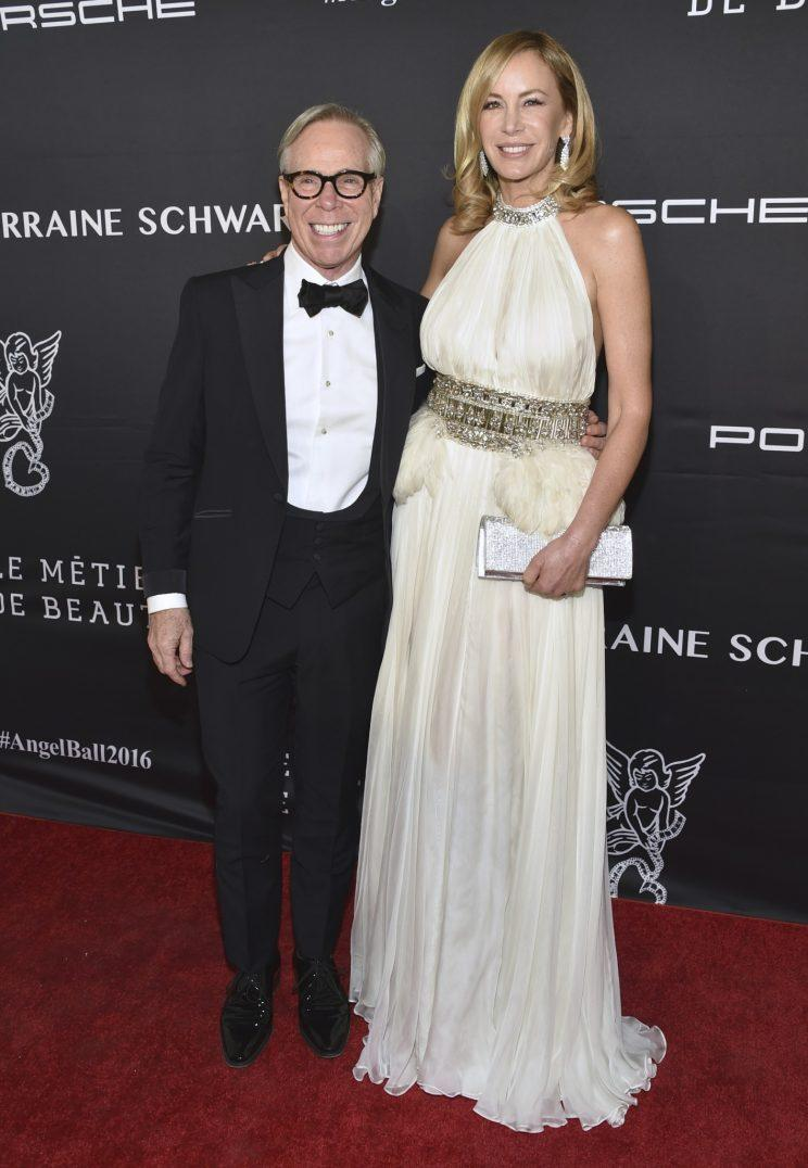 Tommy Hilfiger with his wife, Dee, at the Angel Ball on Monday night. (Photo: AP)
