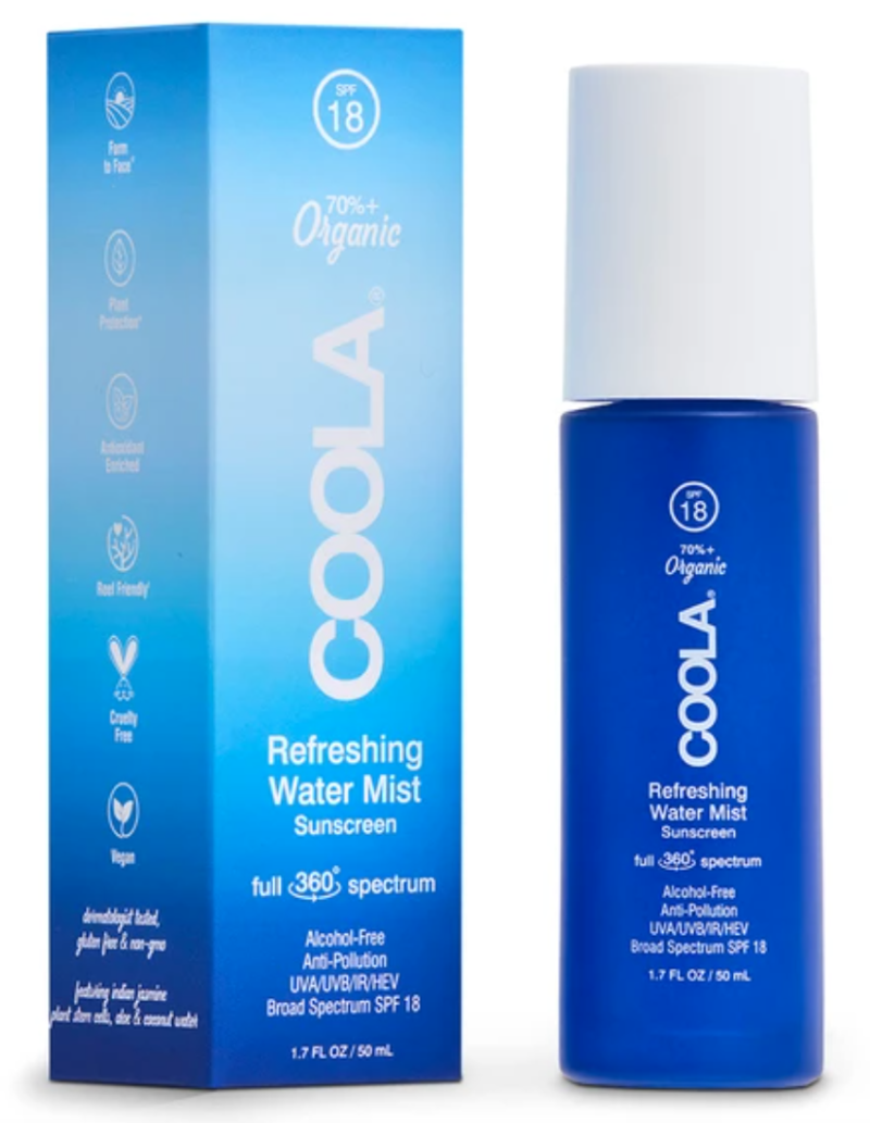 COOLA Full Spectrum 360 Refreshing Water Mist Organic Face Sunscreen SPF 18