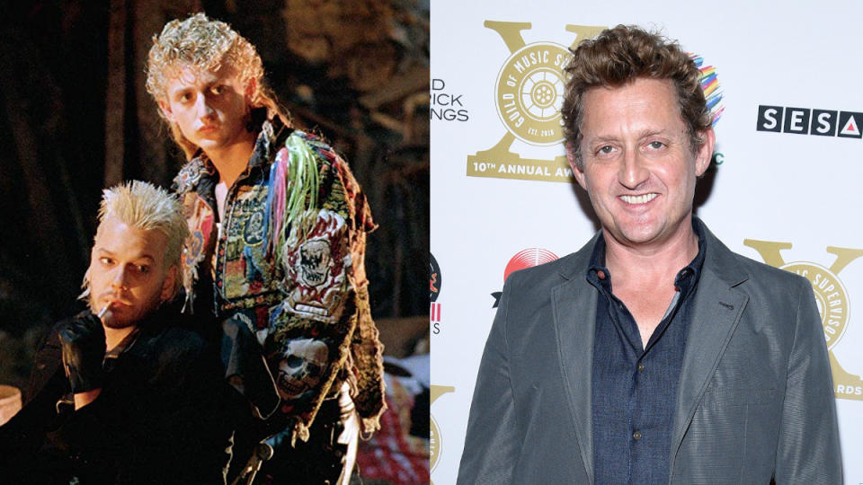 Alex Winter in 1987 and 2020. (Credit: Warner Bros/Michael Tullberg/Getty Images)