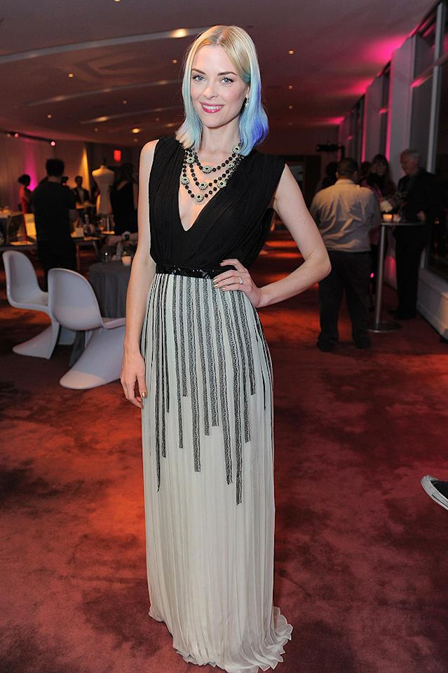 "Gorgeous girl (Jaime King), divine dress (Christian Dior), horrid hair color (blue). Will this dreadful trend ever disappear, or is this just the beginning? (3/22/2012)<br><br><a target=""_blank"" href=""http://bit.ly/lifeontheMlist"">Follow What Were They Thinking?! creator, Matt Whitfield, on Twitter!</a>"