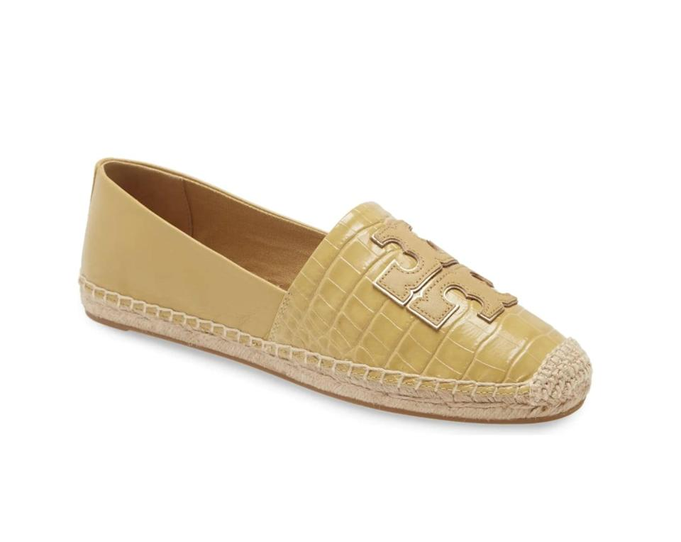 <p>We'll happily swap out our sneakers for this bright and sophisticated <span>Tory Burch Ines Espadrille</span> ($87, originally $130).</p>