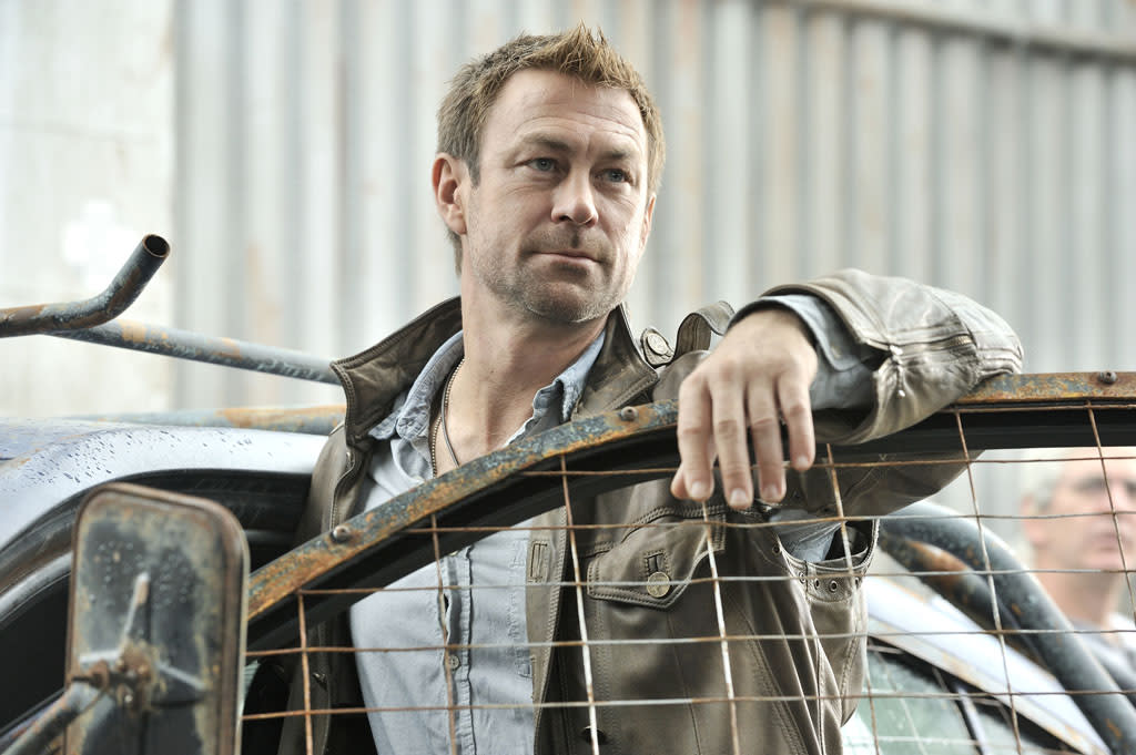 "Grant Bowler as Joshua Nolan in the ""Defiance"" episode, ""The Serpent's Egg."""