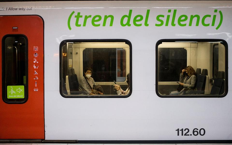 Barcelona's suburban trains have added silent carriages for the first time - Shutterstock