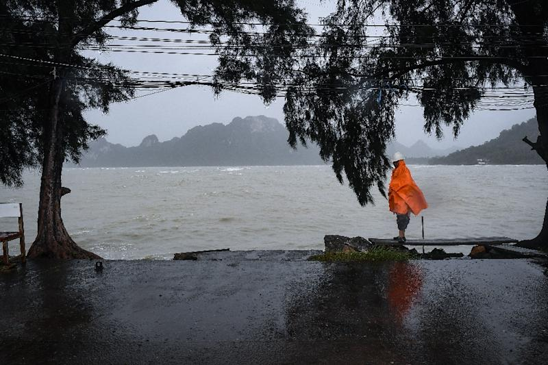Storm Pabuk packed winds of up to 75 kilometres (45 miles) an hour and brought heavy rains and storm surges as it lashed the entire south of the kingdom on Friday