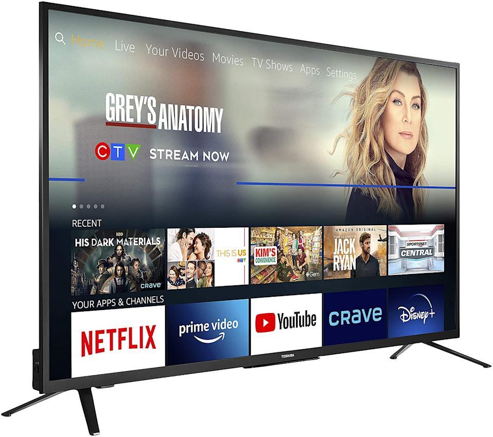 Toshiba 50-inch 4K Ultra HD HDR Smart LED TV - on sale now through Amazon Canada for only $370 (originally $480).