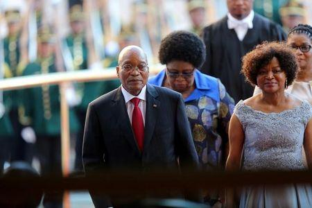President Zuma arrives ahead of his State of the Nation Address in Cape Town