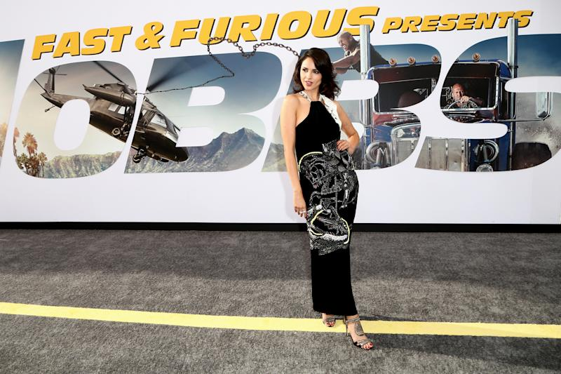 """HOLLYWOOD, CALIFORNIA - JULY 13: Eiza González attends the Premiere Of Universal Pictures' """"Fast & Furious Presents: Hobbs & Shaw"""" at Dolby Theatre on July 13, 2019 in Hollywood, California. (Photo by Tommaso Boddi/WireImage)"""