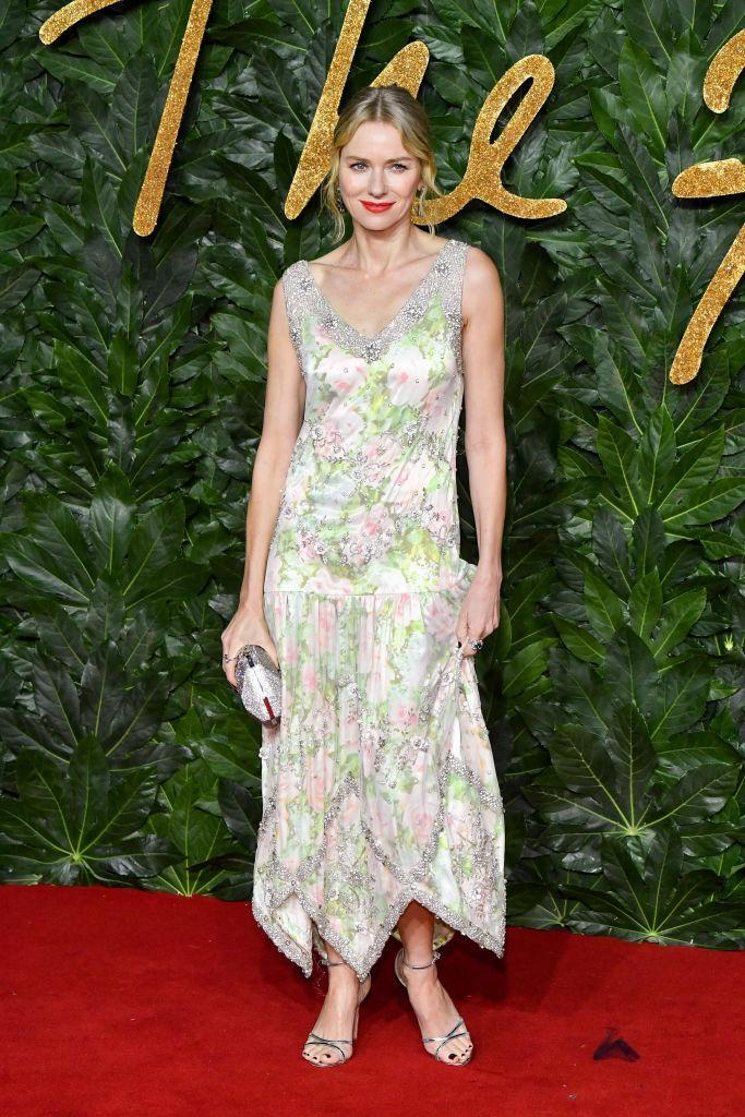<p>Actress Naomi Watts has delivered some seriously covetable looks this year and her latest is just the ticket. Who knew pastel florals could work so well in December? The actress wore Richard Quinn on the red carpet with Swarovski Crystals and Atelier Swarovski jewellery to finish.<br><em>[Photo: Getty]</em> </p>