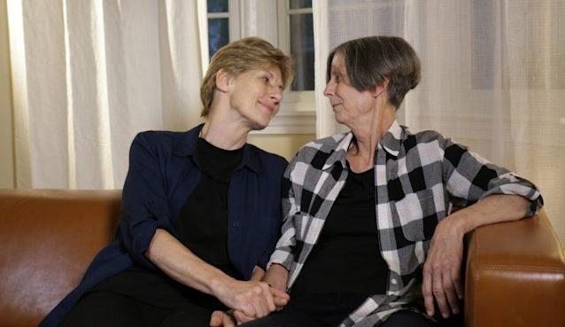 Mary Klein, right, with her partner, Stella Dawson. (Photo: Brian Prowse-Gany/Yahoo News)