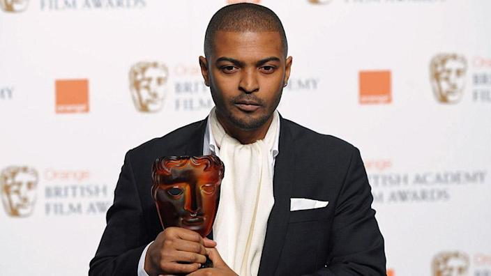 Noel Clarke with his Bafta for Rising Star in 2009