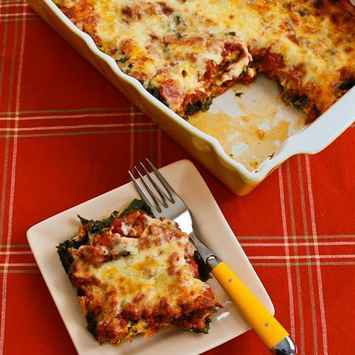 """<div class=""""caption-credit""""> Photo by: Kalyn's Kitchen</div><div class=""""caption-title"""">Sausage and Kale Mock Lasagna Casserole</div>Substituting blanched kale for noodles, Kalyn's Kitchen makes a riff on lasagna that's even more fall-appropriate than the original. <br> <br> <b>Recipe: <a href=""""http://www.kalynskitchen.com/2012/01/recipe-for-sausage-and-kale-mock.html"""" rel=""""nofollow noopener"""" target=""""_blank"""" data-ylk=""""slk:Sausage and Kale Mock Lasagna Casserole"""" class=""""link rapid-noclick-resp"""">Sausage and Kale Mock Lasagna Casserole</a></b> <br>"""