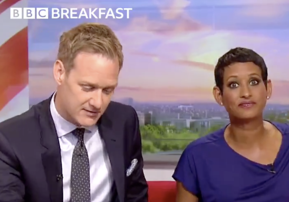 Dan Walker and Naga Munchetty on BBC Breakfast (BBC)
