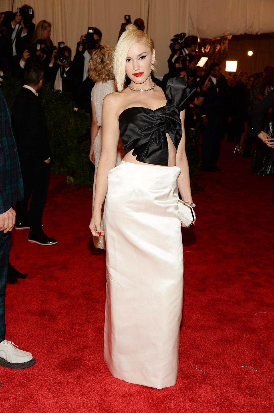 <p>Attending the 2013 Met Gala in a Moschino gown.</p>