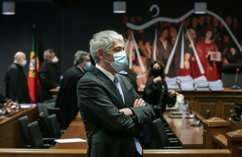 Portugal's former PM Socrates attends court hearing in Lisbon