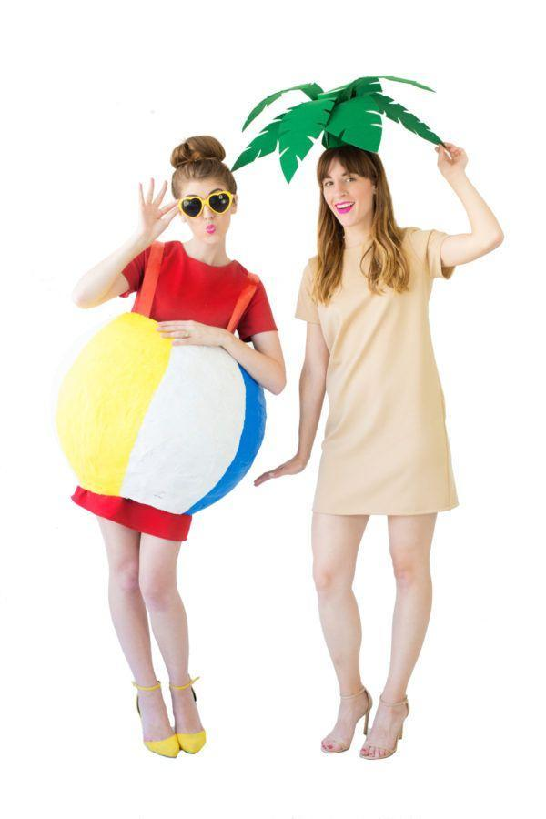 """<p>Take inspiration from that fun-in-the-sun sister trip you took. The papier-mâché beach ball costume is particularly perfect <a href=""""https://www.countryliving.com/life/kids-pets/g4972/halloween-costumes-pregnant-women/"""" rel=""""nofollow noopener"""" target=""""_blank"""" data-ylk=""""slk:for pregnant women"""" class=""""link rapid-noclick-resp"""">for pregnant women</a>.</p><p><strong>Get the tutorial at <a href=""""https://studiodiy.com/2016/10/17/diy-palm-tree-beach-ball-costumes/"""" rel=""""nofollow noopener"""" target=""""_blank"""" data-ylk=""""slk:Studio DIY"""" class=""""link rapid-noclick-resp"""">Studio DIY</a>.</strong></p><p><strong><a class=""""link rapid-noclick-resp"""" href=""""https://www.amazon.com/dp/B06Y1BV64L?tag=syn-yahoo-20&ascsubtag=%5Bartid%7C10050.g.21530121%5Bsrc%7Cyahoo-us"""" rel=""""nofollow noopener"""" target=""""_blank"""" data-ylk=""""slk:SHOP BASIC DRESSES"""">SHOP BASIC DRESSES</a></strong></p>"""