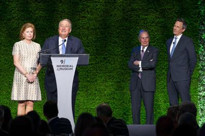 """Howard Milstein and Abby Milstein were honored on September 4, 2019 by the 9/11 Memorial & Museum with the 2019 """"Distinction in Civic Innovation and Renewal"""" award, at a benefit dinner hosted by comedian and talk show host Seth Meyers and former New York City Mayor Michael Bloomberg."""