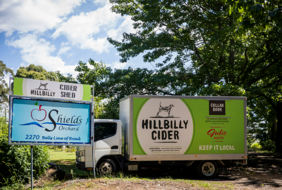 Hillbilly Cider is a popular stop in Bilpin, NSW. Photo: Destination NSW