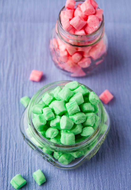 """<p>Give your family and friends a fresh way to enjoy dessert this Christmas. These festive, meltaway mints also make the perfect <a href=""""https://www.countryliving.com/food-drinks/g1059/homemade-food-gifts/"""" rel=""""nofollow noopener"""" target=""""_blank"""" data-ylk=""""slk:food gift"""" class=""""link rapid-noclick-resp"""">food gift</a> for the holidays. </p><p><strong>Get the recipe at <a href=""""http://www.averiecooks.com/2012/06/old-fashioned-butter-mints.html  """" rel=""""nofollow noopener"""" target=""""_blank"""" data-ylk=""""slk:Averie Cooks"""" class=""""link rapid-noclick-resp"""">Averie Cooks</a>. </strong></p>"""